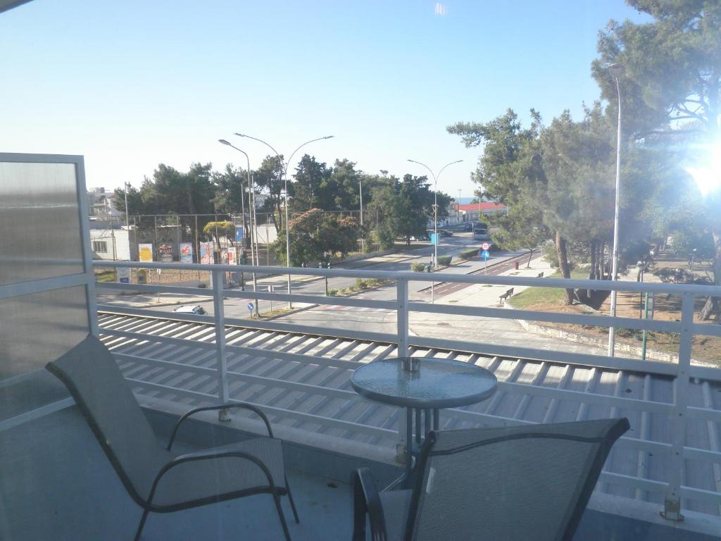 A balcony or terrace at Paralion Town Apartments