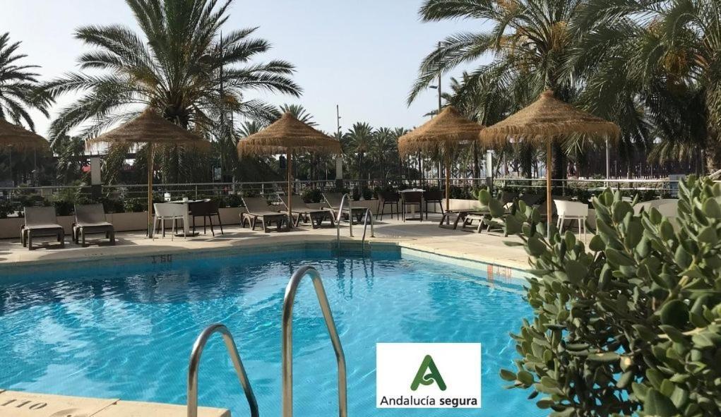 The swimming pool at or near Ohtels Gran Hotel Almeria