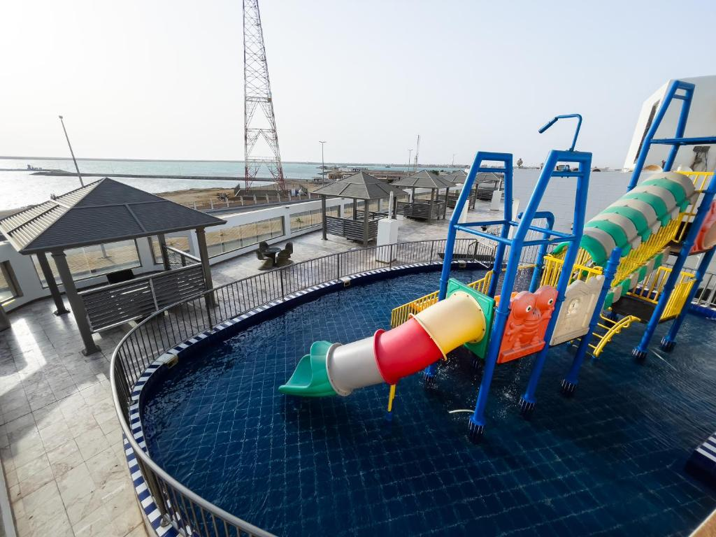 Parque aquático no apart-hotel ou nos arredores