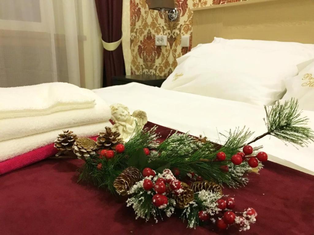 Кровать или кровати в номере Мини-Отель Солотель