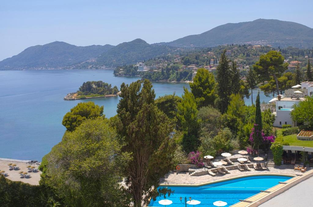 A view of the pool at Corfu Holiday Palace or nearby