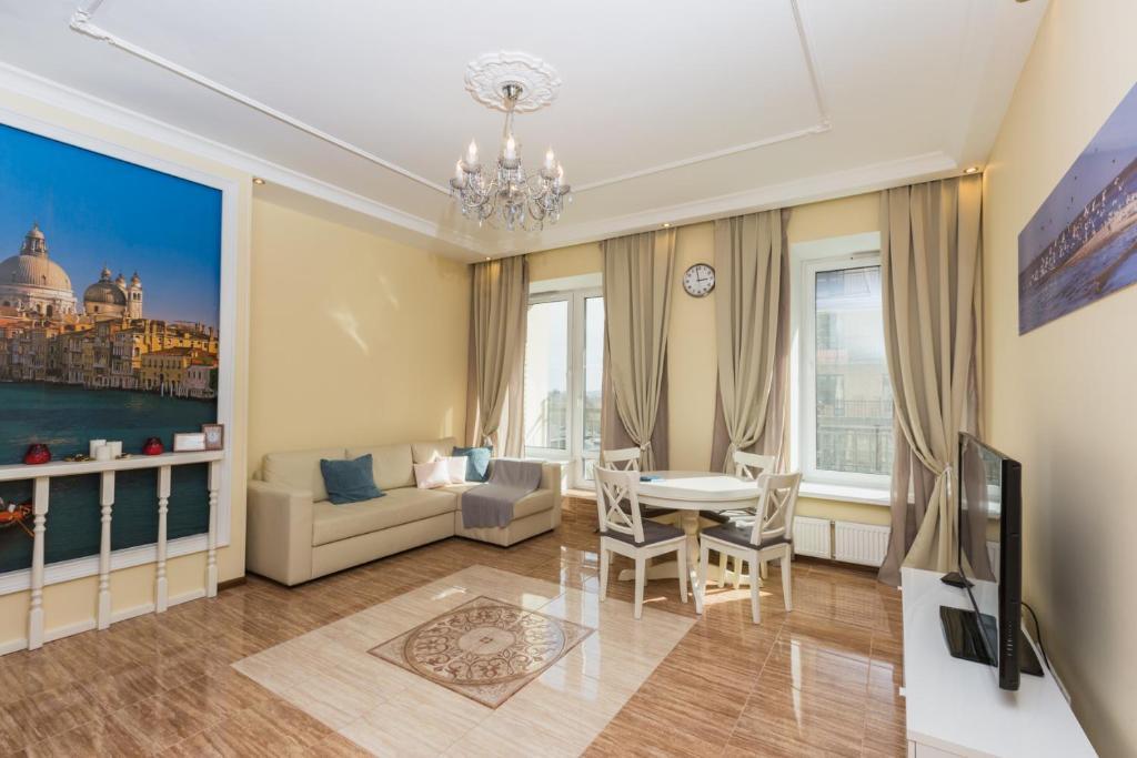Гостиная зона в Complex Apartments near Novodevichiy