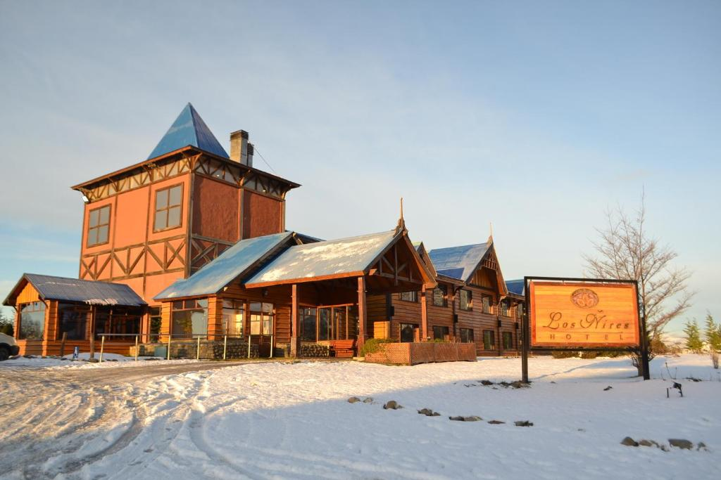 Hotel Los Ñires during the winter