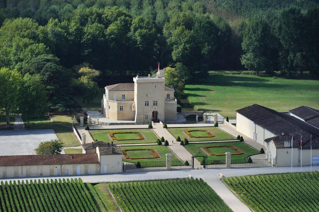 A bird's-eye view of Château La Tour Carnet