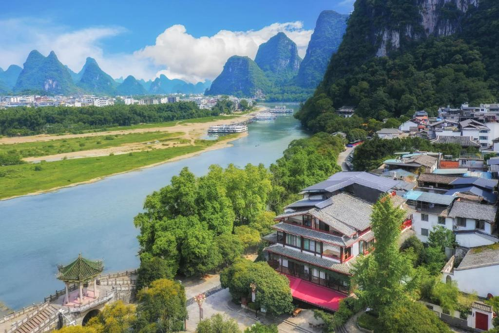 Yangshuo River View Hotel a vista de pájaro