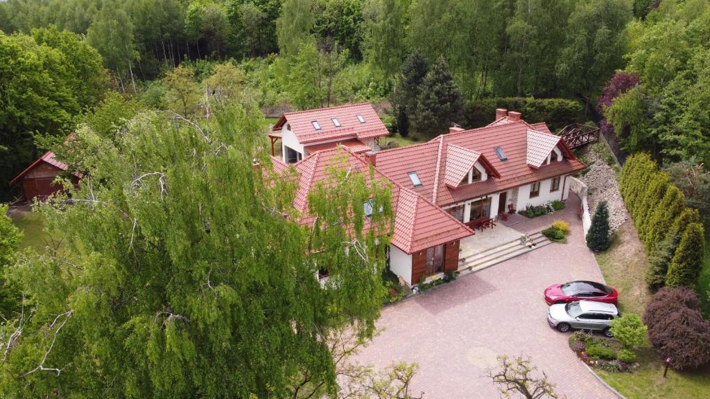 Widok z lotu ptaka na obiekt Agroturystyka Podzamcze