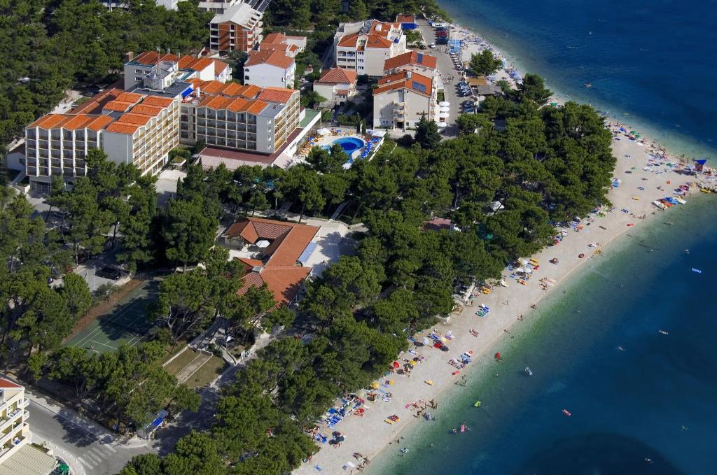 Letecký snímek ubytování Hotel Horizont