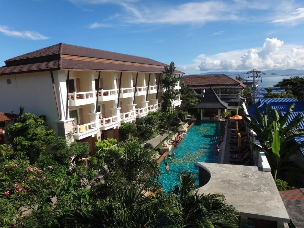 Uma vista da piscina em Neptune's Villa ou nas proximidades