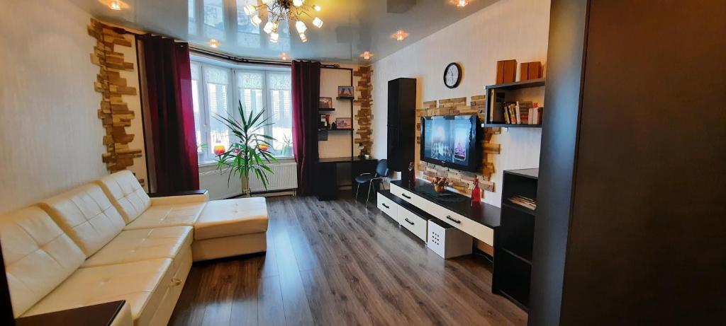 Гостиная зона в Apartment on Buharestskaya