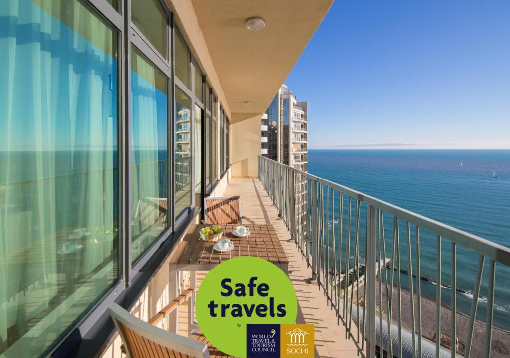 Балкон или терраса в Апарт-Отель Бревис
