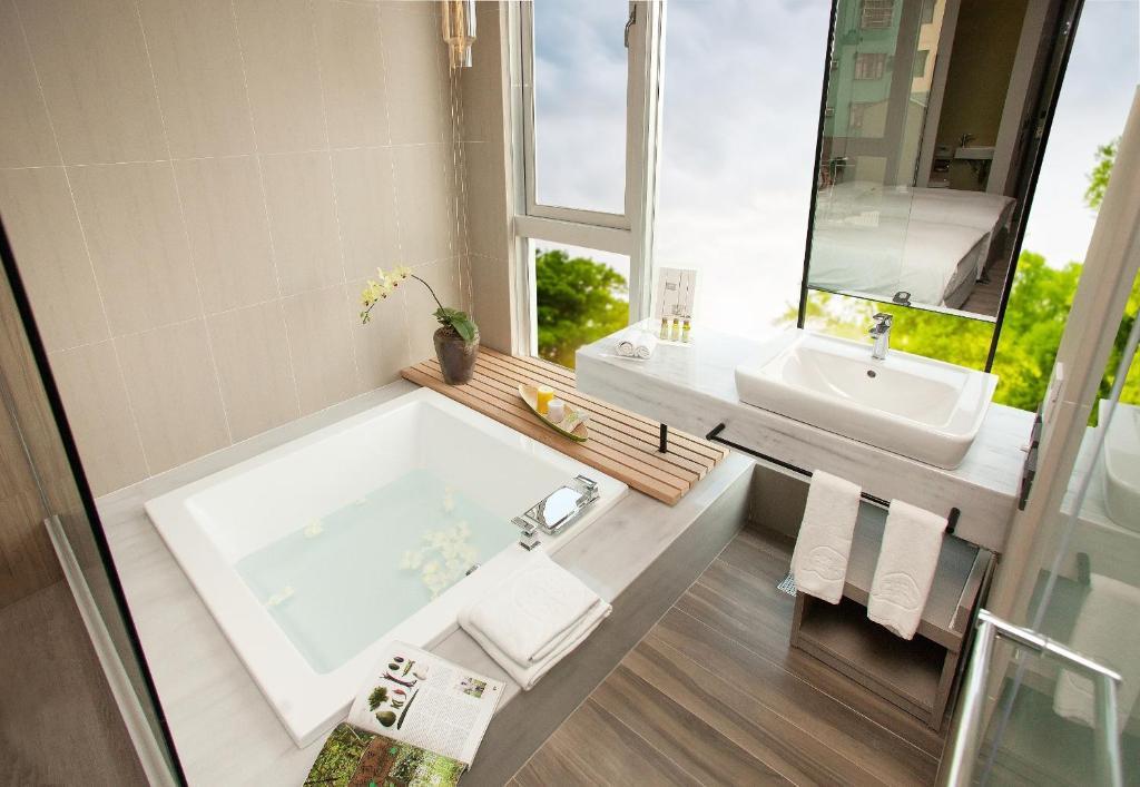 宅度假優惠-標準雙人房-附浴缸 & 一泊二食的相片(第 1 張)