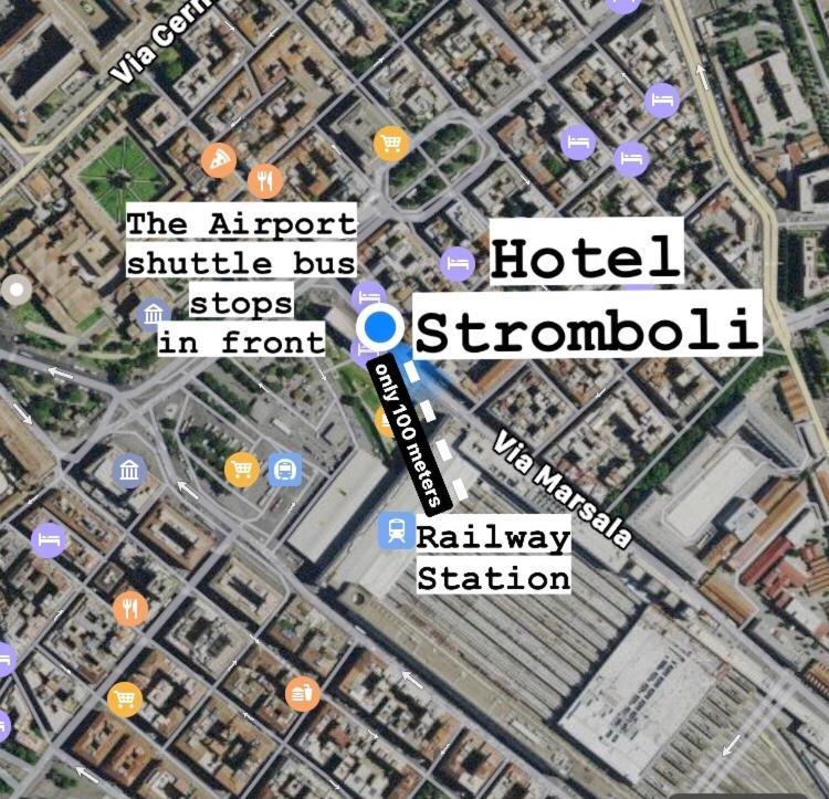 Vue panoramique sur l'établissement Hotel Stromboli