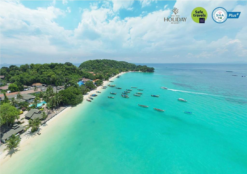 A bird's-eye view of Phi Phi Holiday Resort-SHA Plus