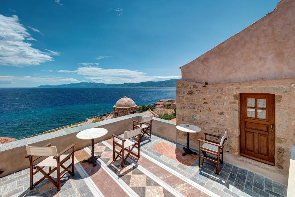 Balcon ou terrasse dans l'établissement Malvasia Traditional Hotel