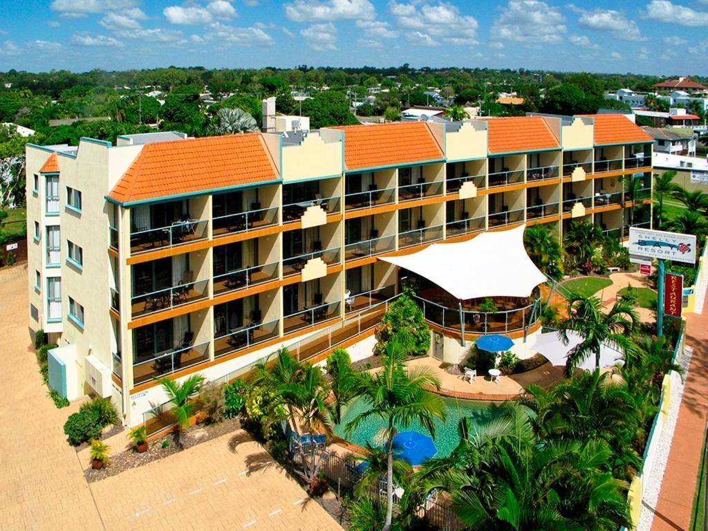 A bird's-eye view of Shelly Bay Resort