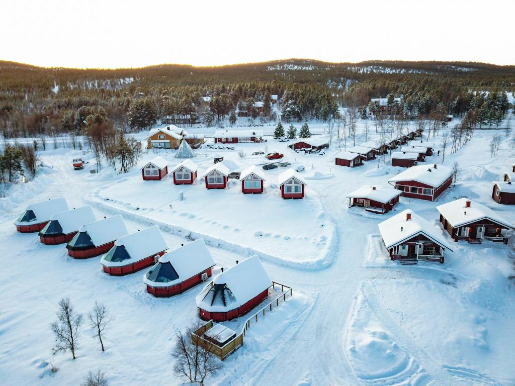 Holiday Village Inari during the winter