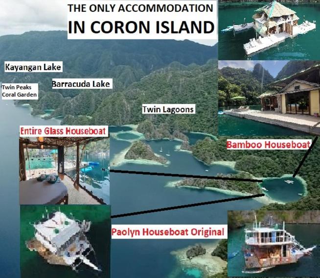 A bird's-eye view of Paolyn Houseboats Coron Island