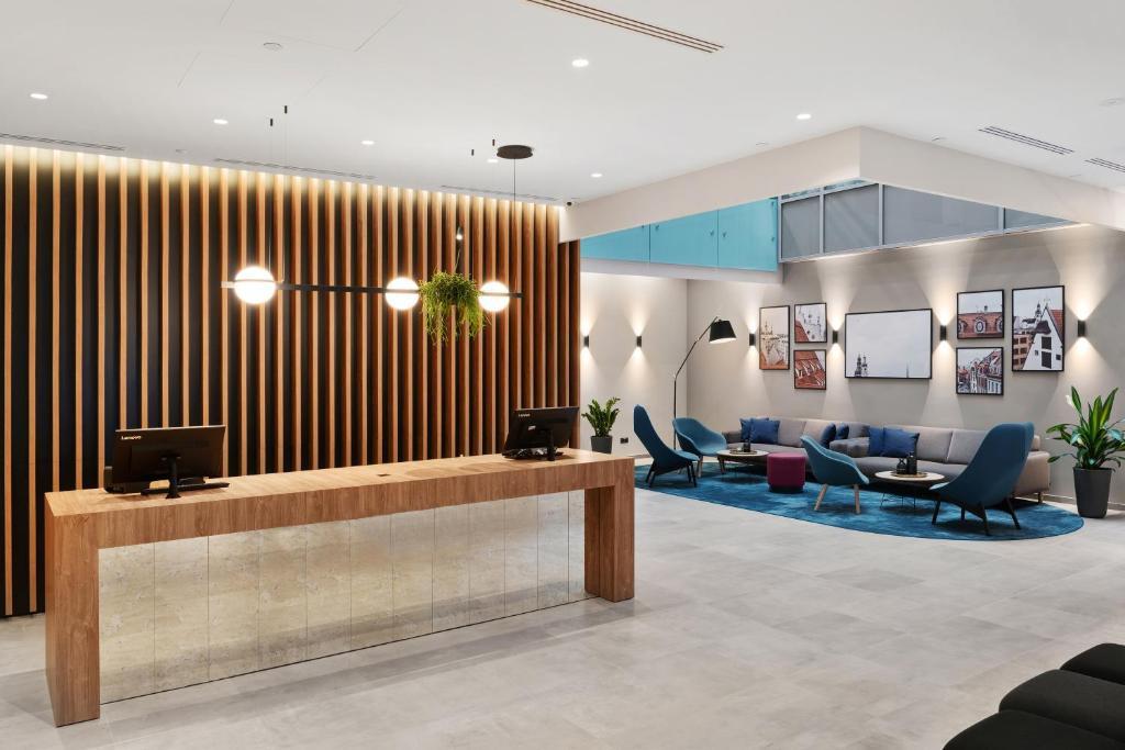 The lobby or reception area at Hilton Garden Inn Riga Old Town