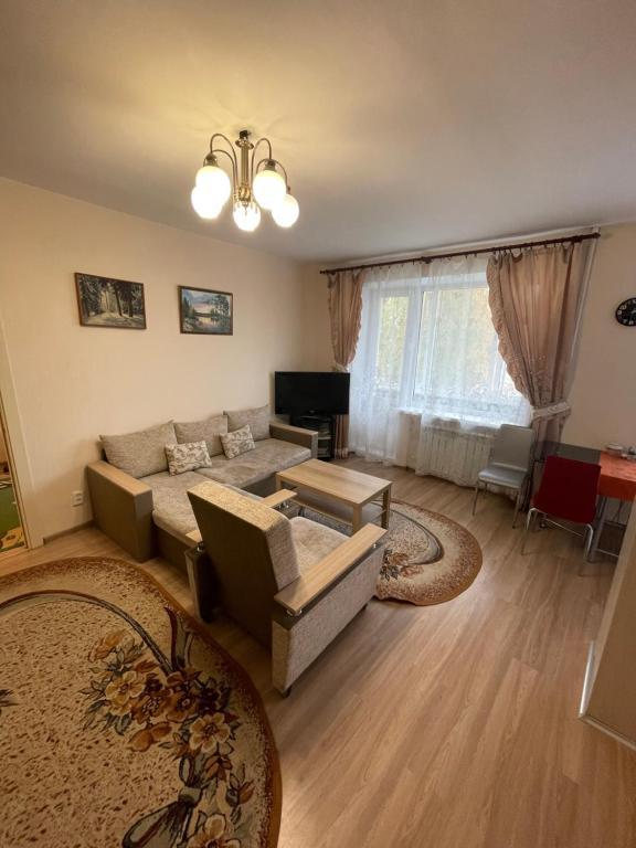 Гостиная зона в Apartment on Lenina 37
