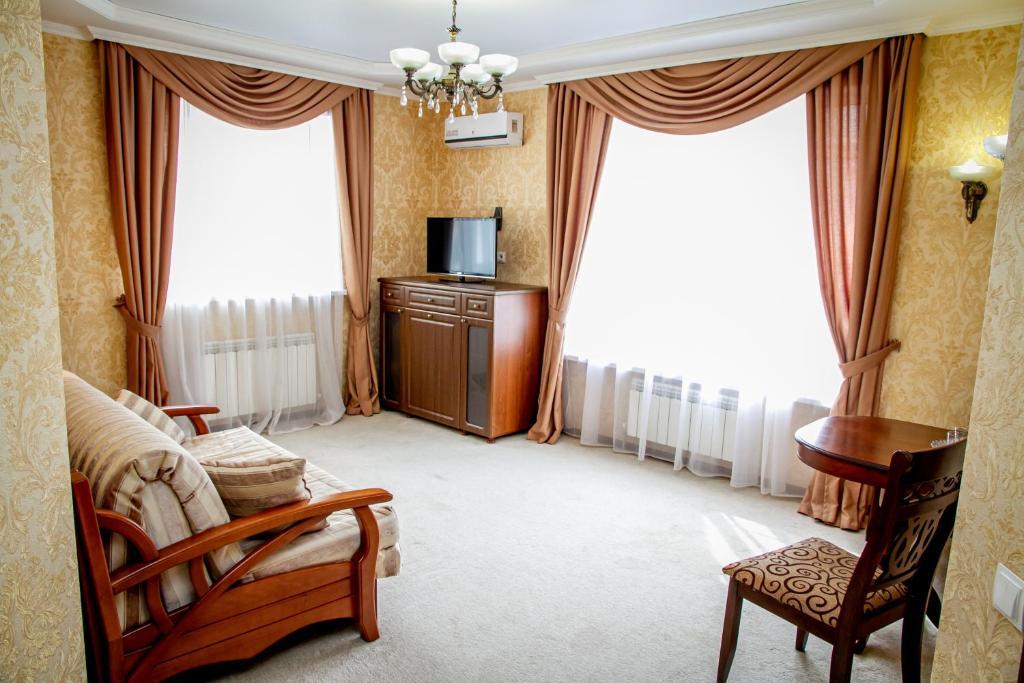 Гостиная зона в Гостиница Янтарь