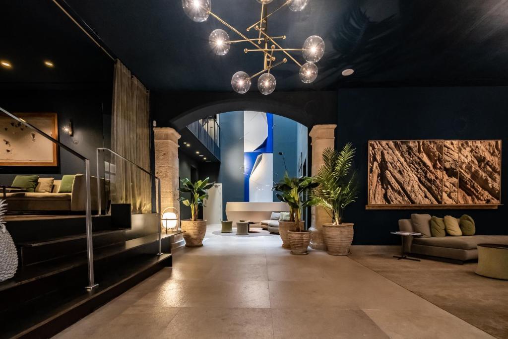 Lobbyn eller receptionsområdet på Hotel Sant Jaume