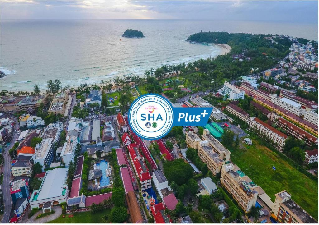 A bird's-eye view of Kata Poolside Resort SHA Plus