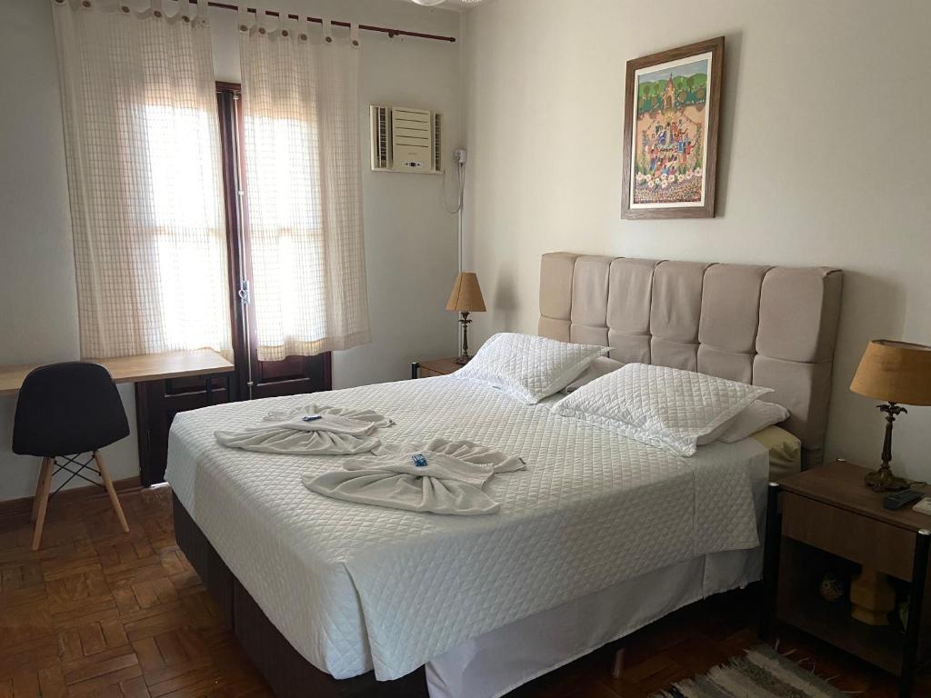 Casa de Bragança房間的床