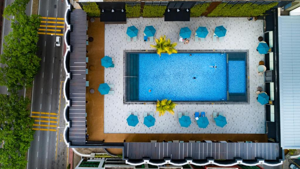 A view of the pool at Hilton Kota Kinabalu or nearby