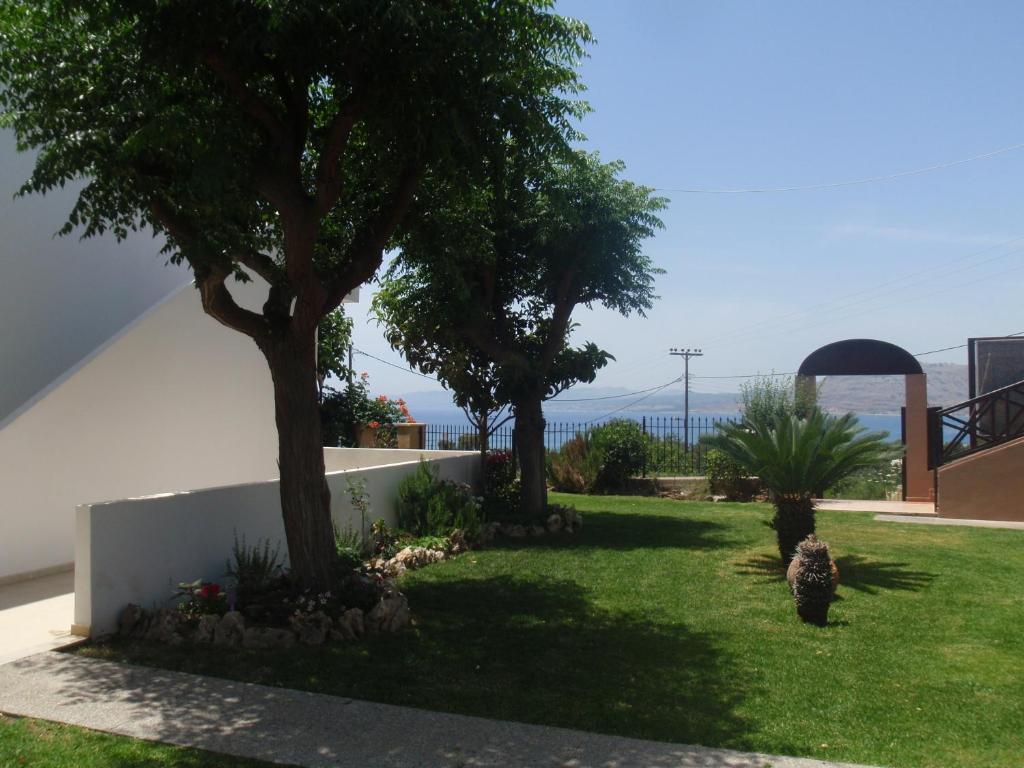 A garden outside Nikolas Apartment