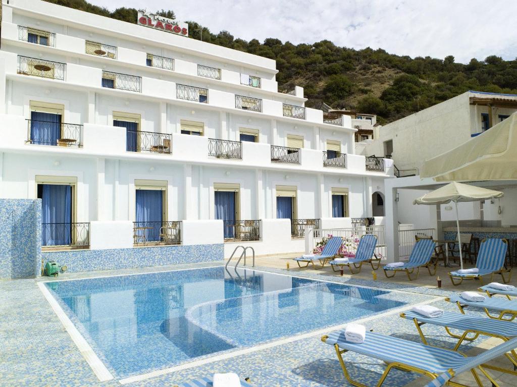 Πισίνα στο ή κοντά στο Γλάρος Ξενοδοχείο - Διαμερίσματα