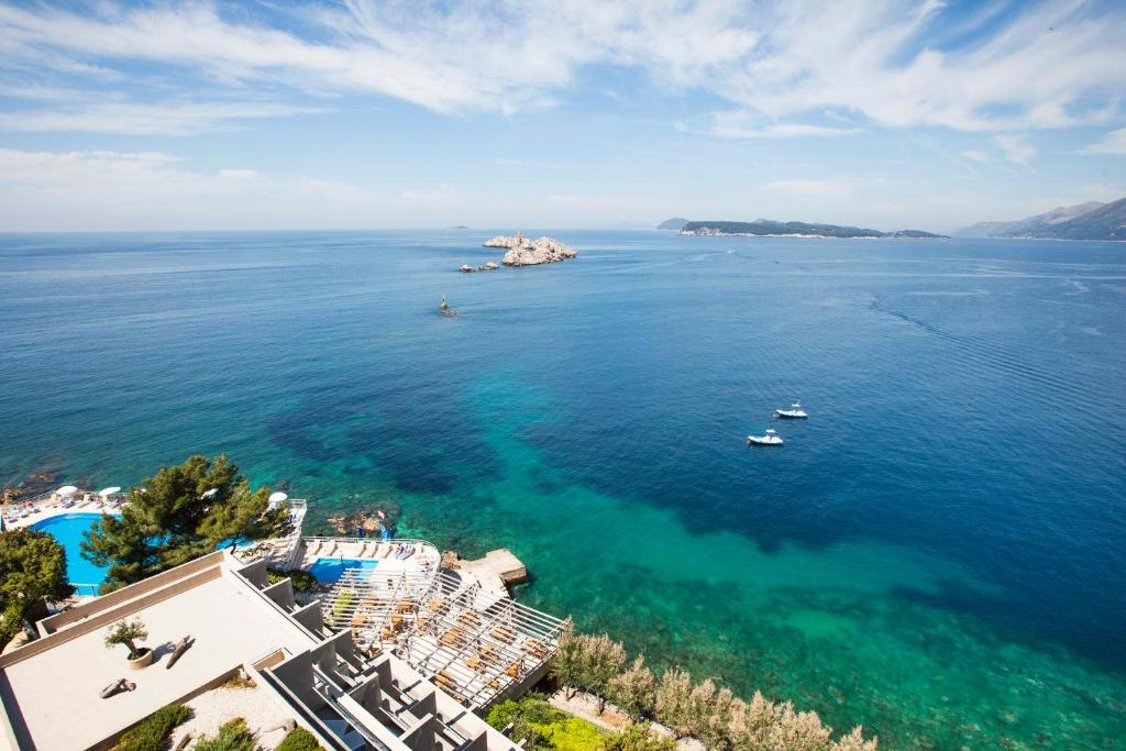 Widok z lotu ptaka na obiekt Hotel Dubrovnik Palace