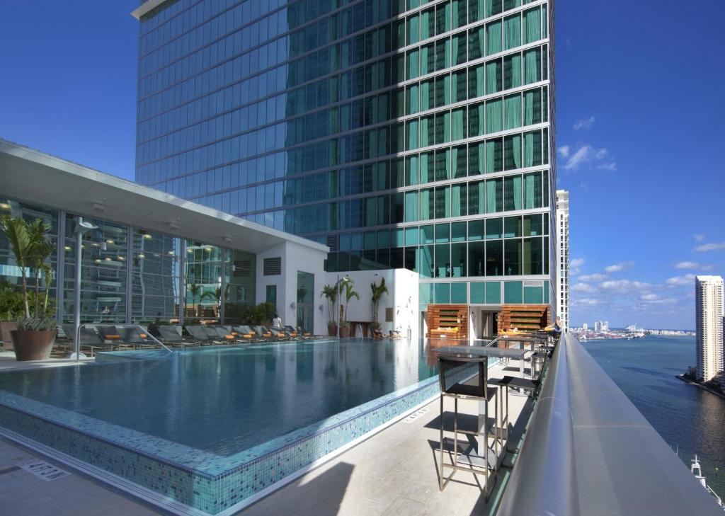 The swimming pool at or near JW Marriott Marquis Miami