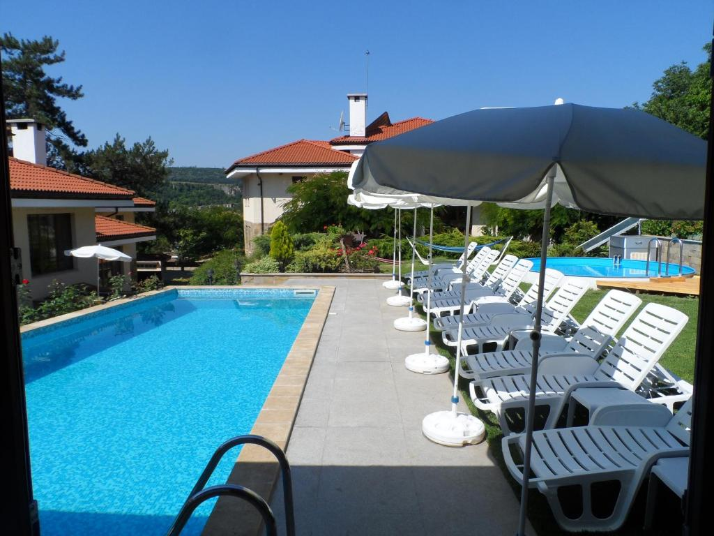 The swimming pool at or near Hotel Black Stork