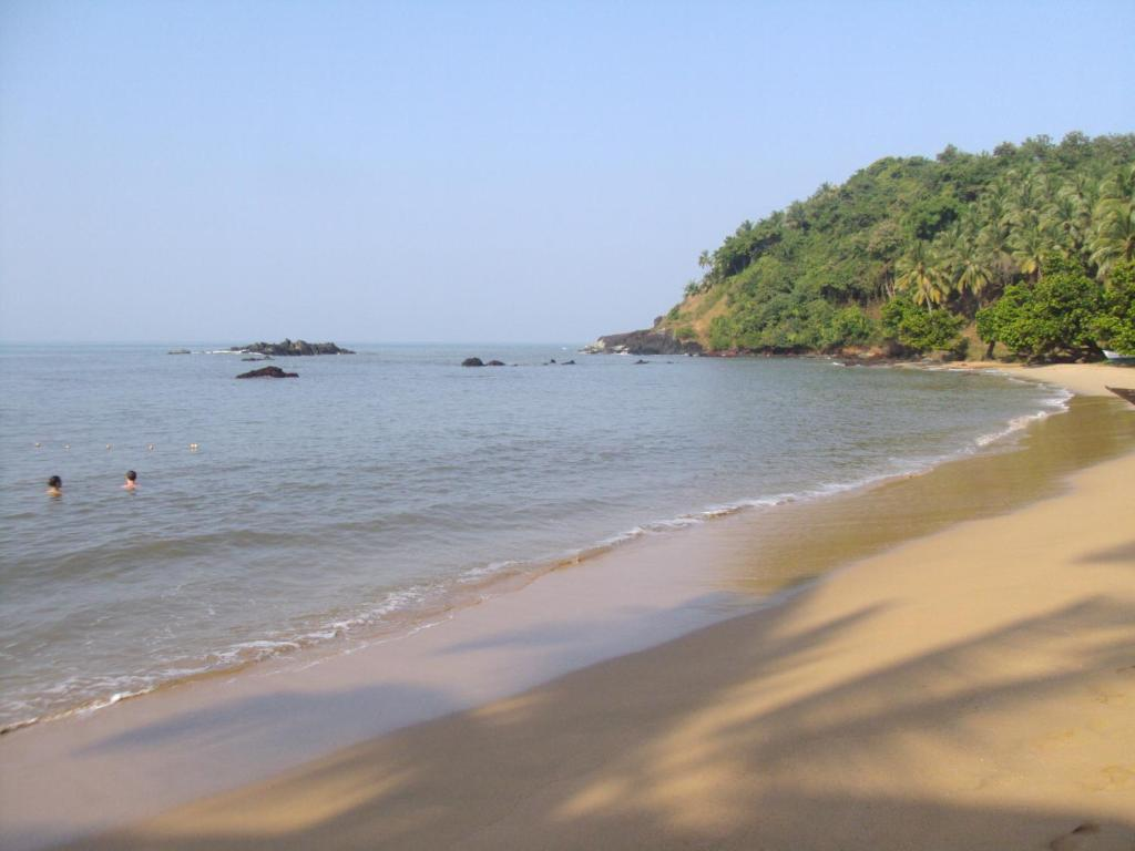 A beach at or near the luxury tent