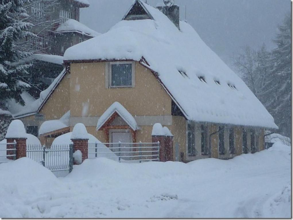 Penzion U Štoly Jáchymov v zimě