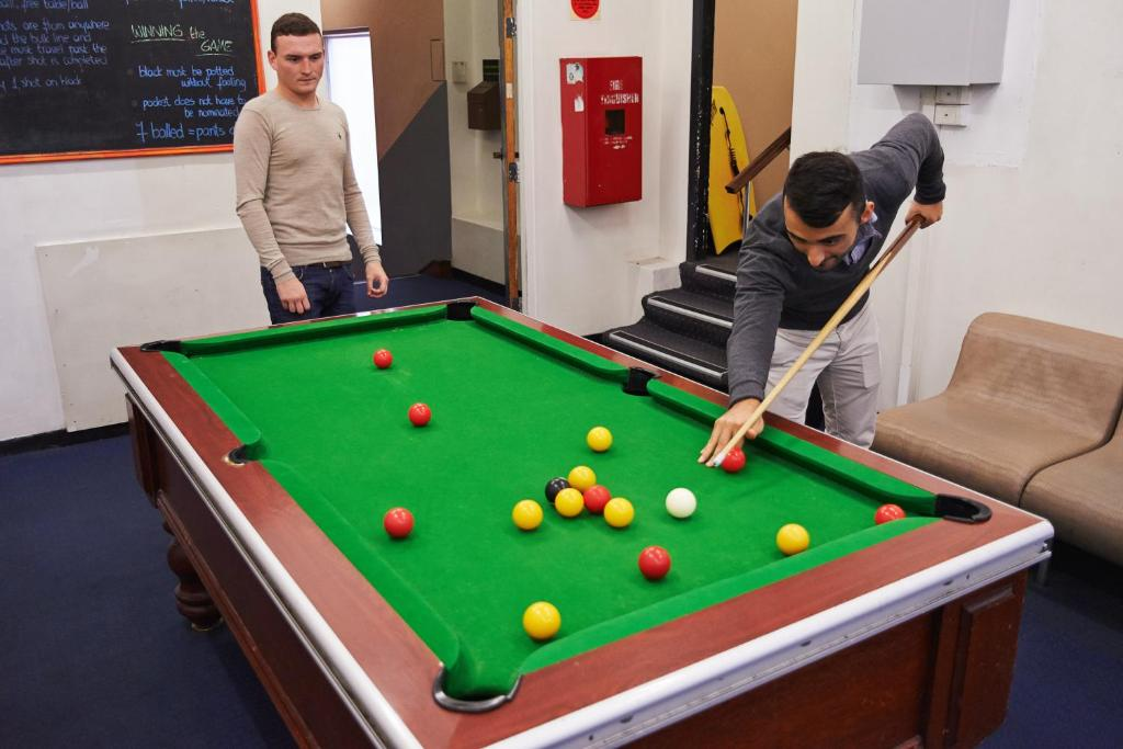 A pool table at Maze Backpackers - Sydney