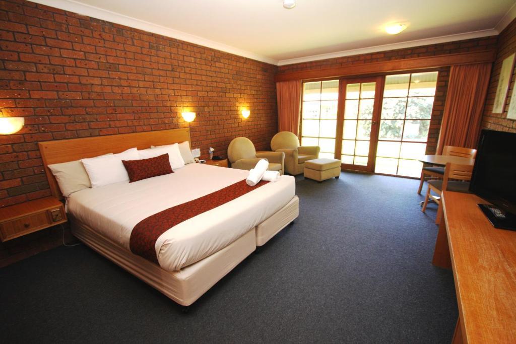 A room at Grange Burn Motel