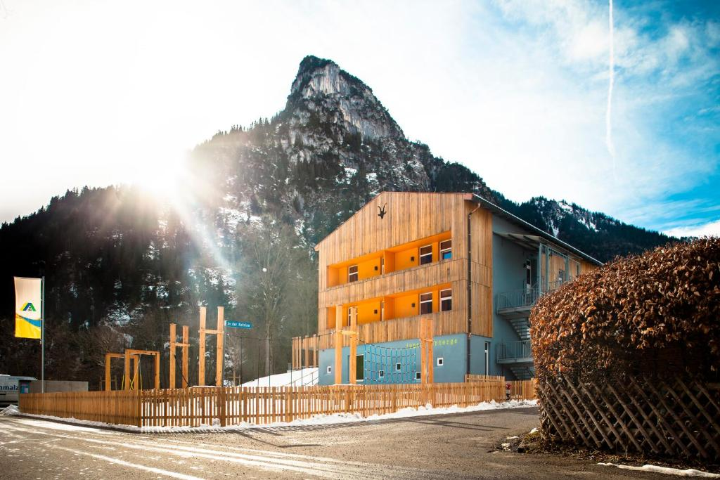 Jugendherberge Oberammergau during the winter