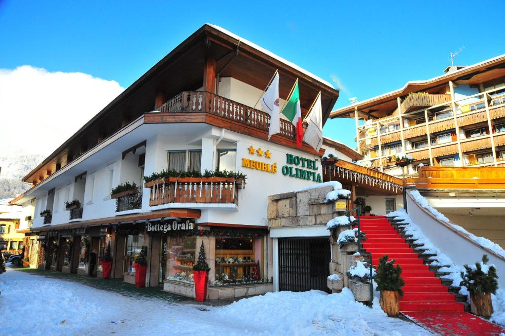 Hotel Olimpia during the winter