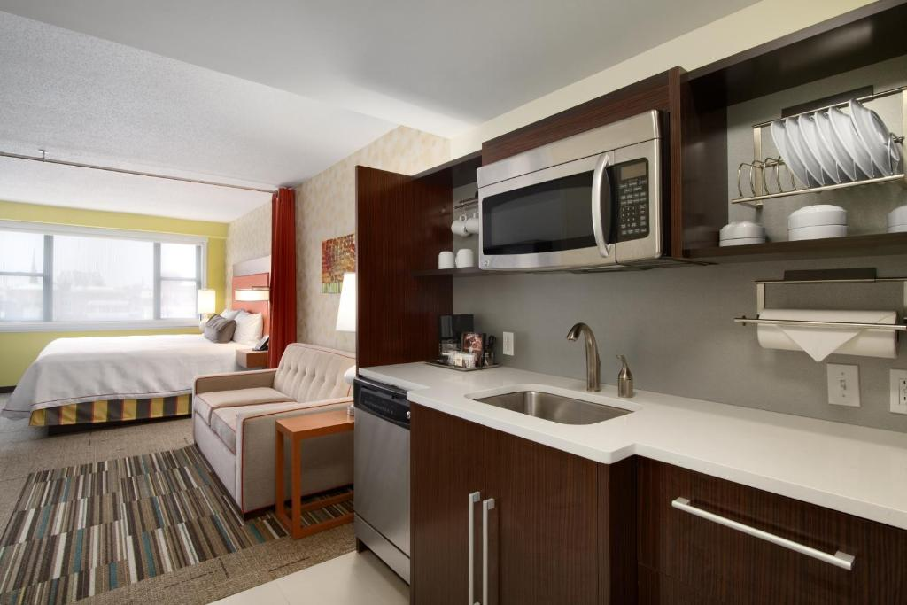 A room at the Home2Suites by Hilton Baltimore Downtown.