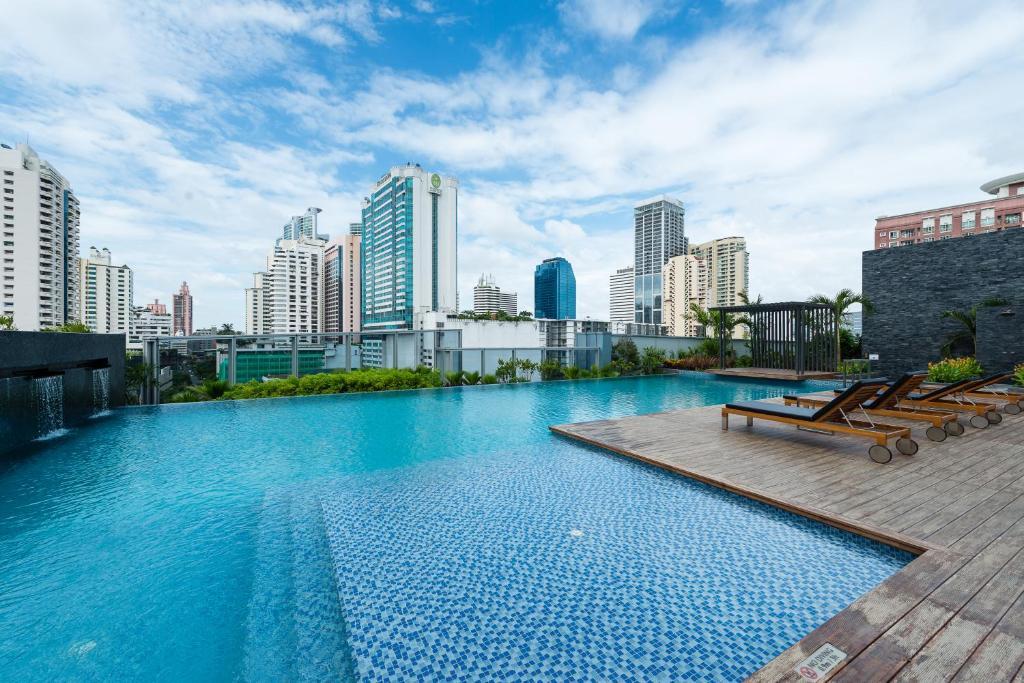 The swimming pool at or near Radisson Blu Plaza Bangkok
