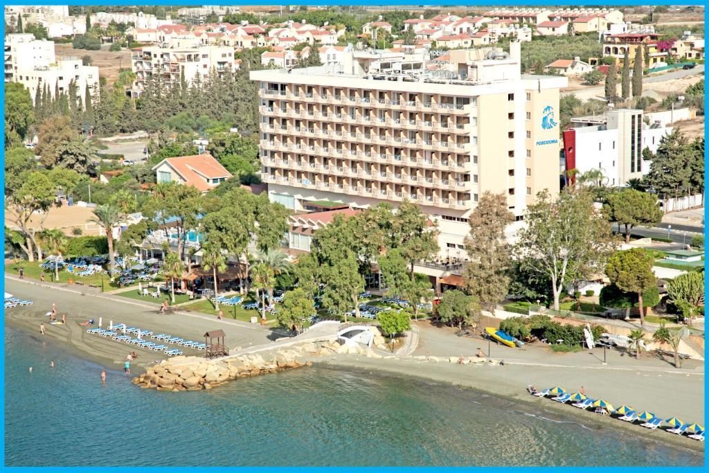 A bird's-eye view of Poseidonia Beach Hotel