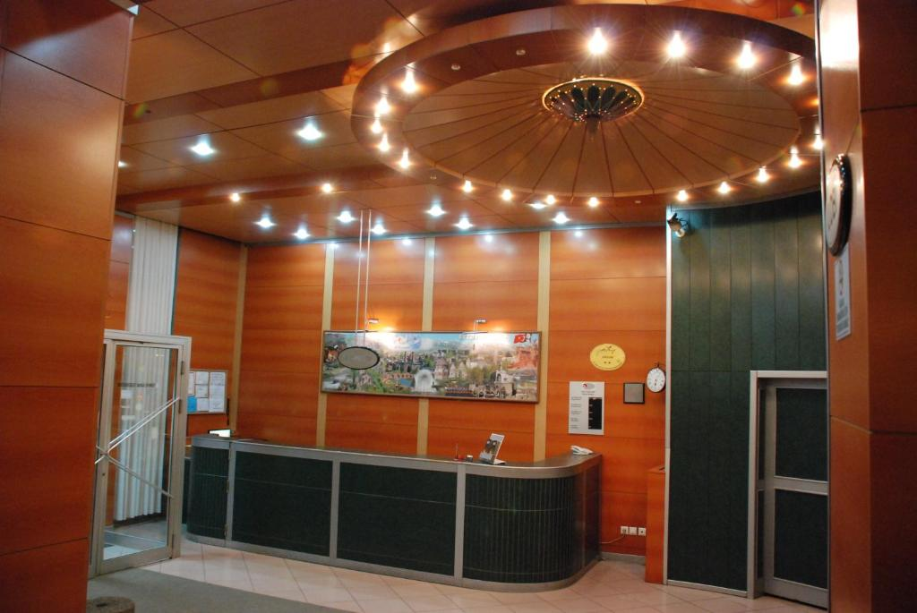 The lobby or reception area at OTEL AMİLLER