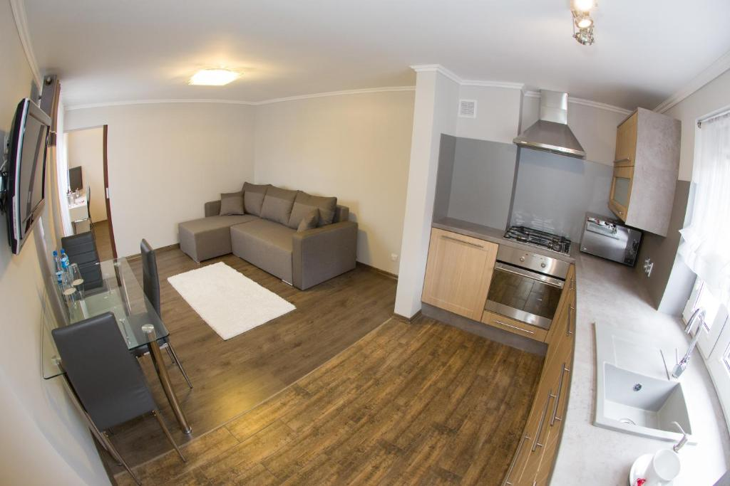 A seating area at Apartament Lazur