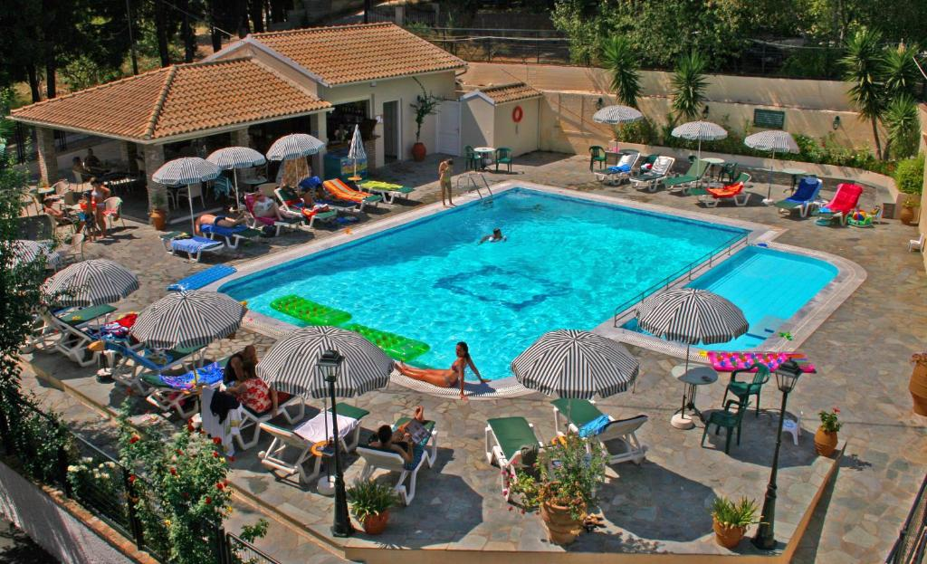 A view of the pool at Elli Marina Studios and Apartments or nearby