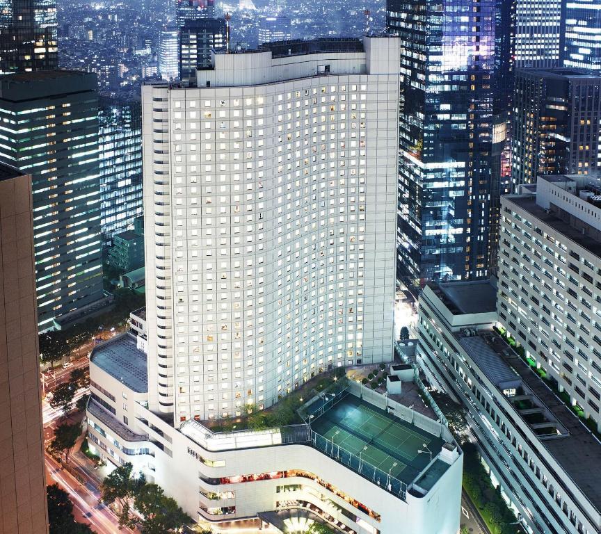 A bird's-eye view of Hilton Tokyo Hotel