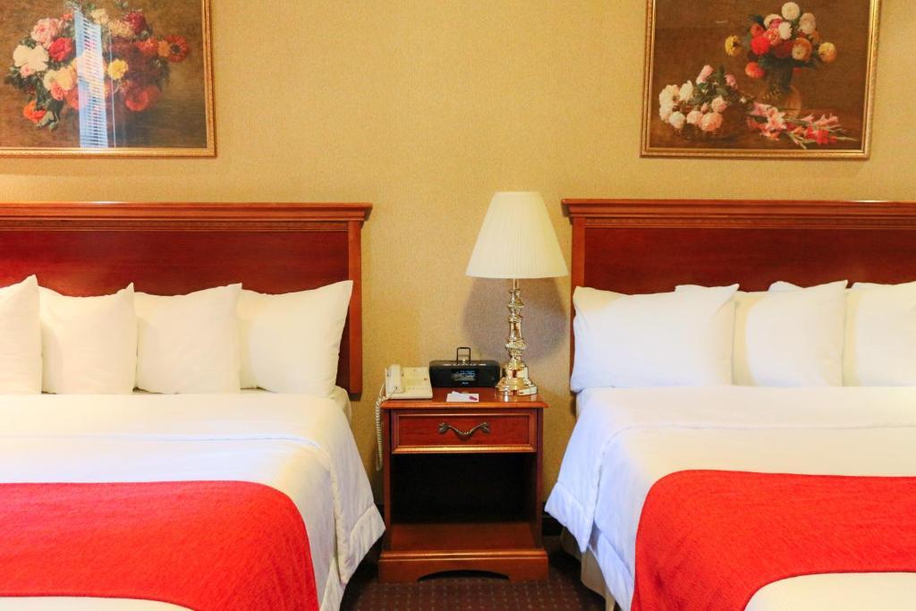 Cama o camas de una habitación en Hotel Newton