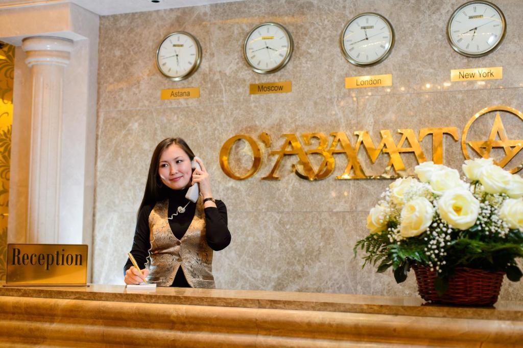The lobby or reception area at O Azamat