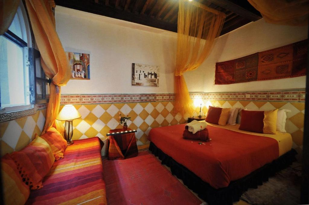 Cama o camas de una habitación en Dar El Paco