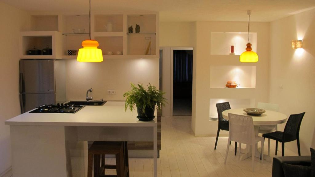 A kitchen or kitchenette at Apartments Coral of Dubrovnik